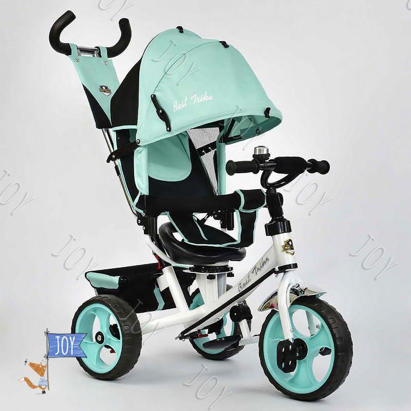 Велосипед 3-х кол. 5700 - 3210 (1) Best Trike /БИРЮЗОВЫЙ/ поворотное сидение, колеса EVA  (пена), d=28см. переднее, d=24см задние
