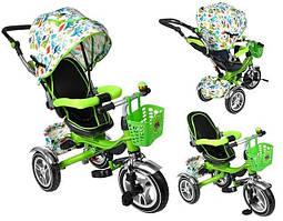 Велосипед дитячий триколісний зелений