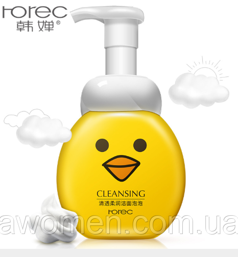 Пенка мусс для умывания Rorec Soft Cleansing с экстрактом граната 300 ml (утка)
