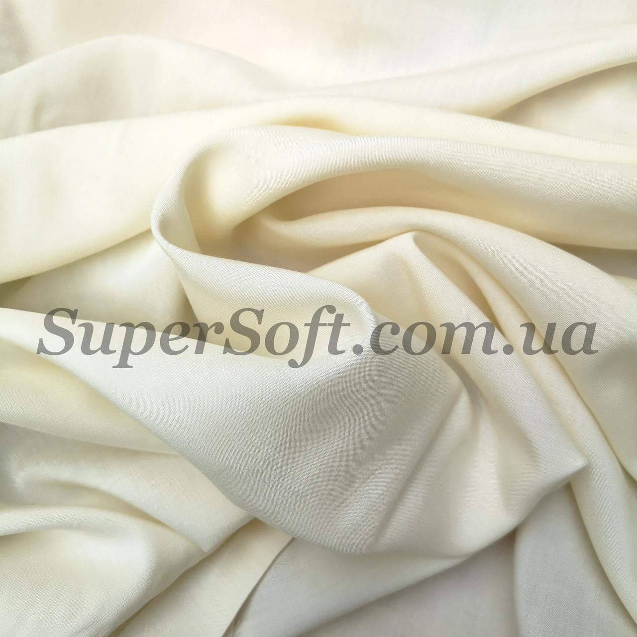 Ткань штапель молочный
