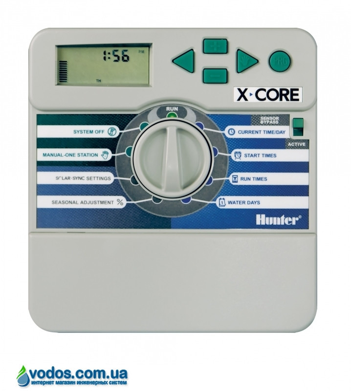 Hunter X-Core 401i-E контроллер для управления 4-мя зонами полива (внутренний)