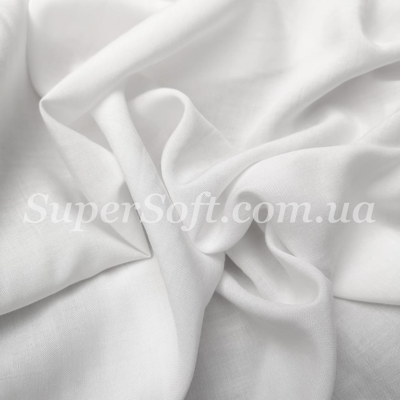 Ткань штапель белый