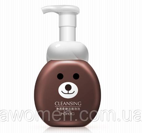 Пенка мусс для умывания Rorec Soft Cleansing с экстрактом яблока 300 ml (миша)