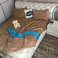 Покрывало для дивана стеганое из искуственного меха ALBO 220x240 cm Бежевое (P-E-5), фото 2
