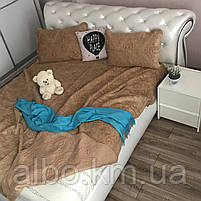Покрывало для дивана стеганое из искуственного меха ALBO 220x240 cm Бежевое (P-E-5), фото 3