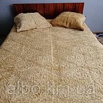 Покрывало для дивана стеганое из искуственного меха ALBO 220x240 cm Бежевое (P-E-5), фото 4