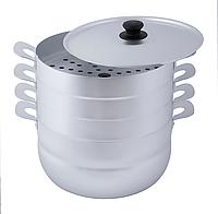 Мантоварка, манты-казан Калитва алюминиевая 6 литров (3 сетки)