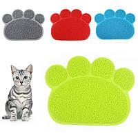 Коврик подстилка для домашних животных Paw Print Litter Mat, Качество