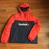 Тепла куртка-анорак синьо-червоний. XS - XL, фото 5