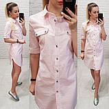 Платье рубашка каттоновая, фото 6