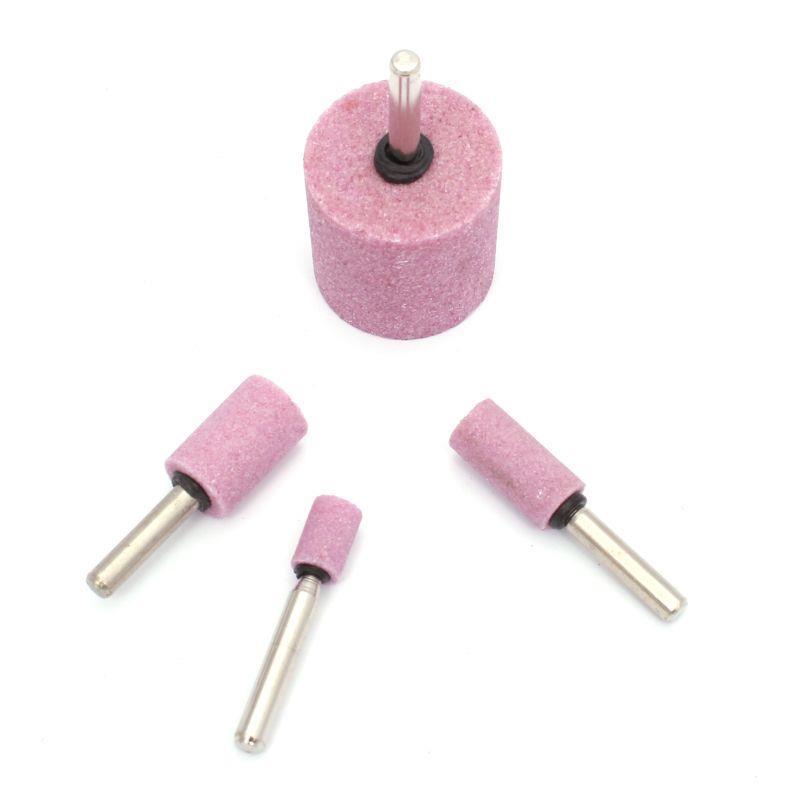 Головка шліфувальна циліндрична 13х20х6мм, рожевий з оправкою