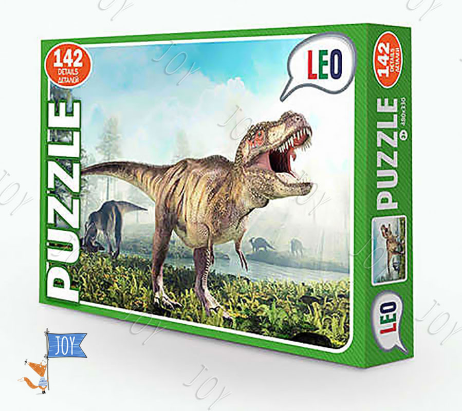 "Гр Пазлы 142 эл. ""Динозавр"" 068-10 (12) ""LEO"""