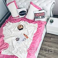 Стильное покрывало на кровать ALBO 220x240 cm + наволочки 50x70 cm(2 шт) Розовое (P-E-3-4), фото 3