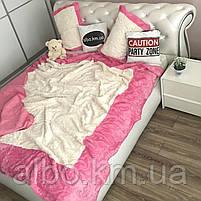 Стильное покрывало на кровать ALBO 220x240 cm + наволочки 50x70 cm(2 шт) Розовое (P-E-3-4), фото 5