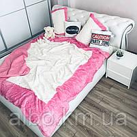 Стильное покрывало на кровать ALBO 220x240 cm + наволочки 50x70 cm(2 шт) Розовое (P-E-3-4), фото 2