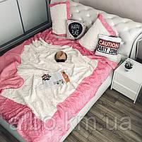 Стильное покрывало на кровать ALBO 220x240 cm + наволочки 50x70 cm(2 шт) Розовое (P-E-3-4), фото 6