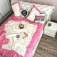 Стильное покрывало на кровать ALBO 220x240 cm + наволочки 50x70 cm(2 шт) Розовое (P-E-3-4), фото 7