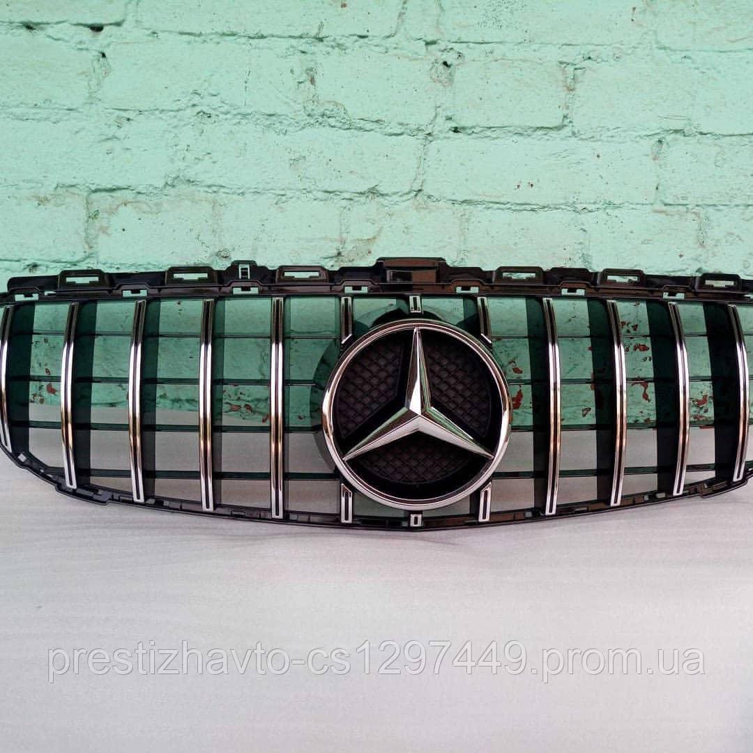 Решетка радиатора Mercedes C-Class W205 Panamericana Style (Elegant, AMG-пакет версии бампера, без камеры)