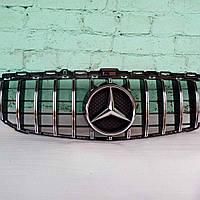 Решетка радиатора Mercedes C-Class W205 Panamericana Style (Elegant, AMG-пакет версии бампера, без камеры), фото 1