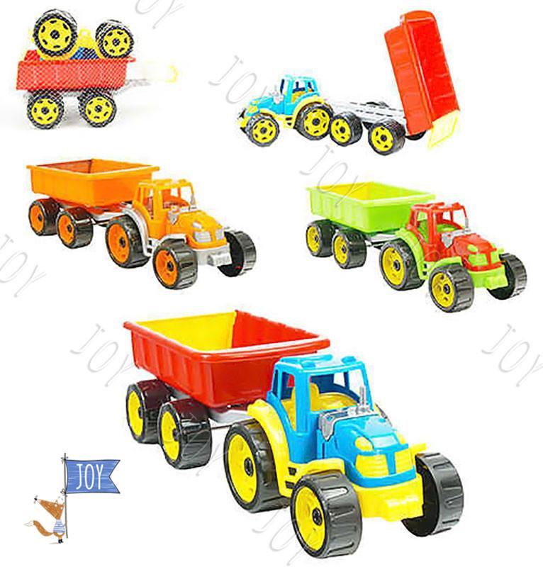 """Трактор с прицепом 3442 (4) """"ТЕХНОК"""" 3 цвета"""