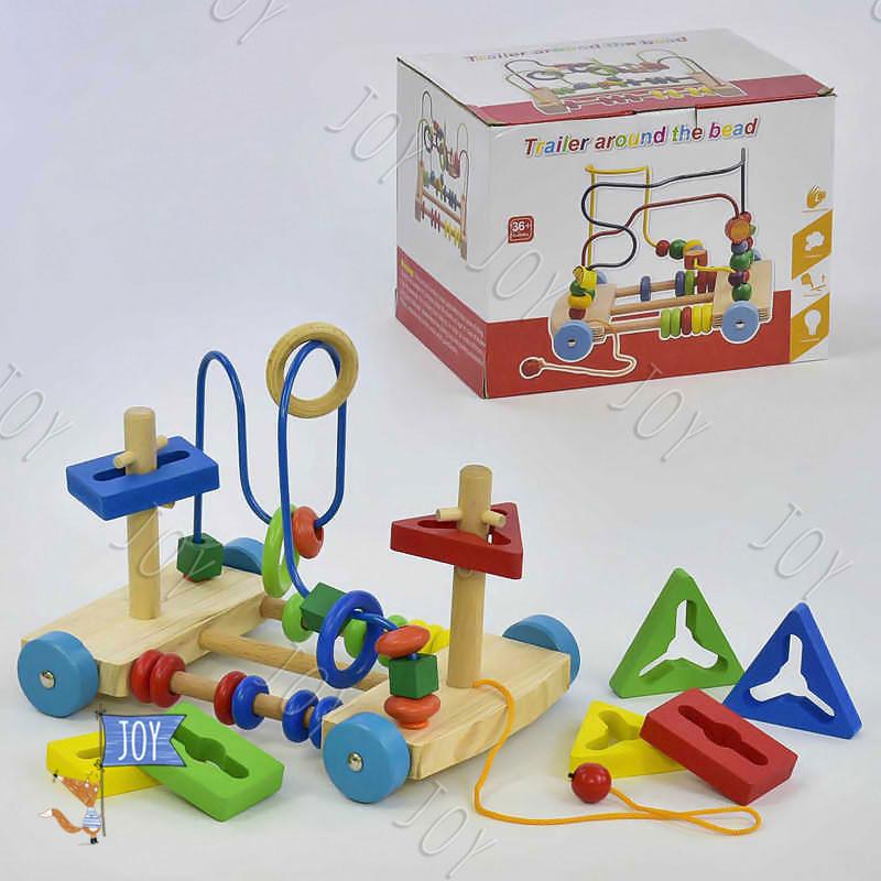 Деревянная игра С 31474 (33) Пальчиковый лабиринт в коробке