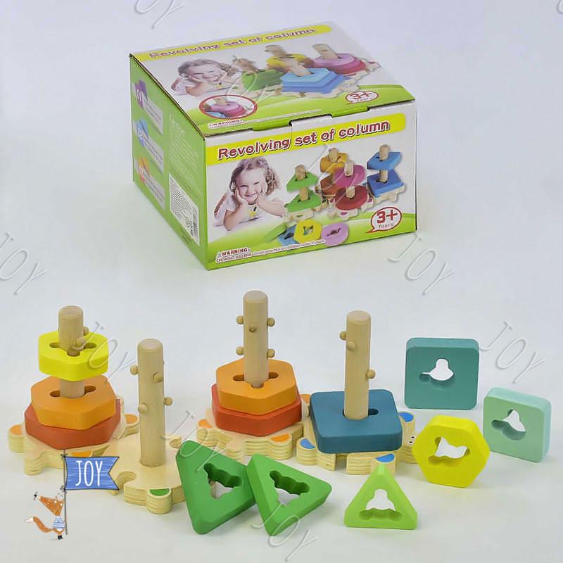 Деревянная пирамидка-сортёр С 31467 (36) в коробке