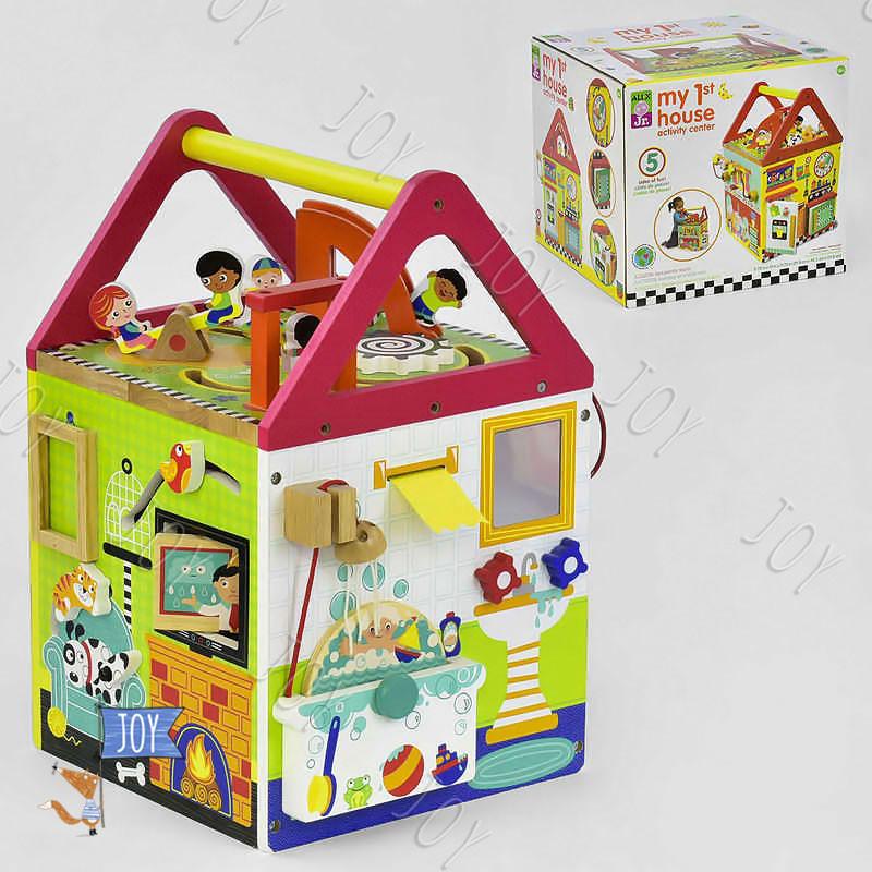 """Деревянный Логический куб C 31759 (1) """"Мой первый домик"""""""
