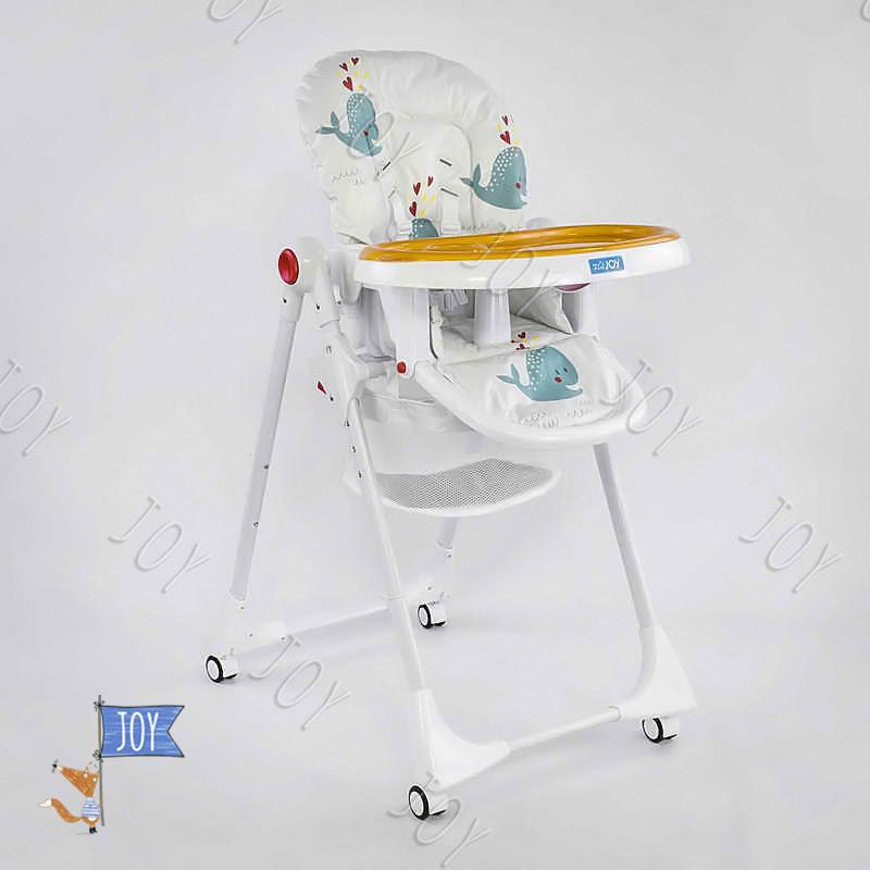 """Детский стульчик для кормления JOY К-89520 (1) """"Рыбки"""" цвет белый, в коробке"""
