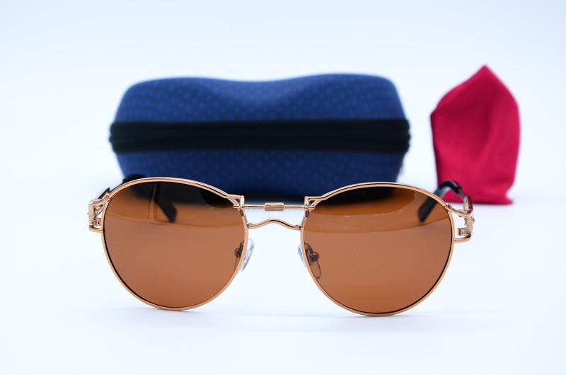 Чоловічі овальні фірмові сонцезахисні окуляри 8257 кор