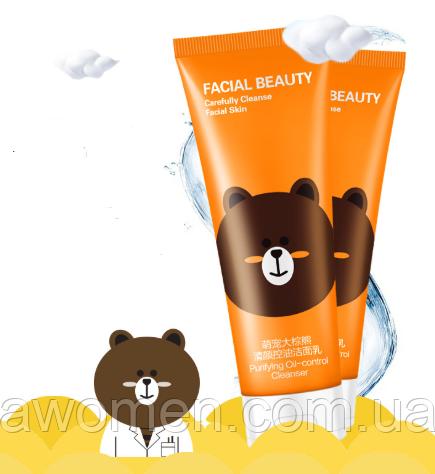 Очищающий пенка Hankey Facial Beauty Skin омолаживающая oil-Control 130 мл (Миша)