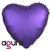 Фольгированный шар 19' Agura (Агура) Сердце пурпурное мистик, 49 см