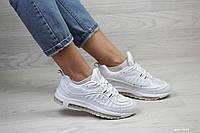 Женские кроссовки Nike Air Max 97 (реплика), белые (7642)