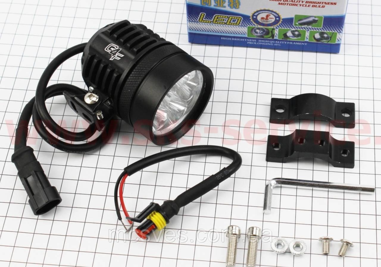 Фара дополнительная светодиодная влагозащитная - 6 LED с креплением, 60мм
