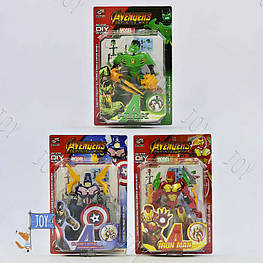 "Конструктор 006-53 (108) ""Супергерои"", 3 вида, на листе"