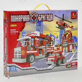 """Конструктор AUSINI 21901 """"Пожарная станция"""" (12) в коробке"""