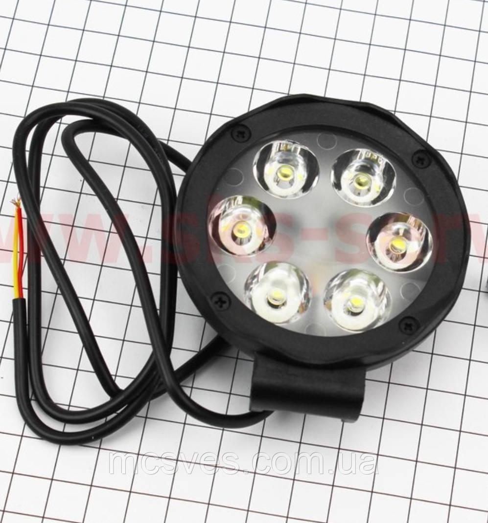 Фара дополнительная светодиодная влагозащитная - 6 LED с креплением