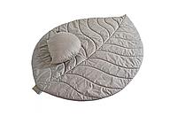 Комплект FLORA стеганый коврик и подушка в ассортименте