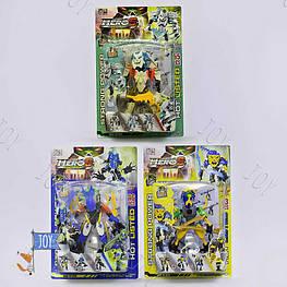 """Конструктор-трансформер 006-30 (60) """"Фабрика героев 6"""", 3 вида, 43- 55 деталей, на листе"""