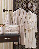 """Семейный набор халатов и полотенец Sikel Бамбук """"Antika"""""""