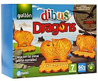 Печенье злаковое с витаминами Dibus Dragons Gullon  Испания 300г (8х37,5г), фото 1
