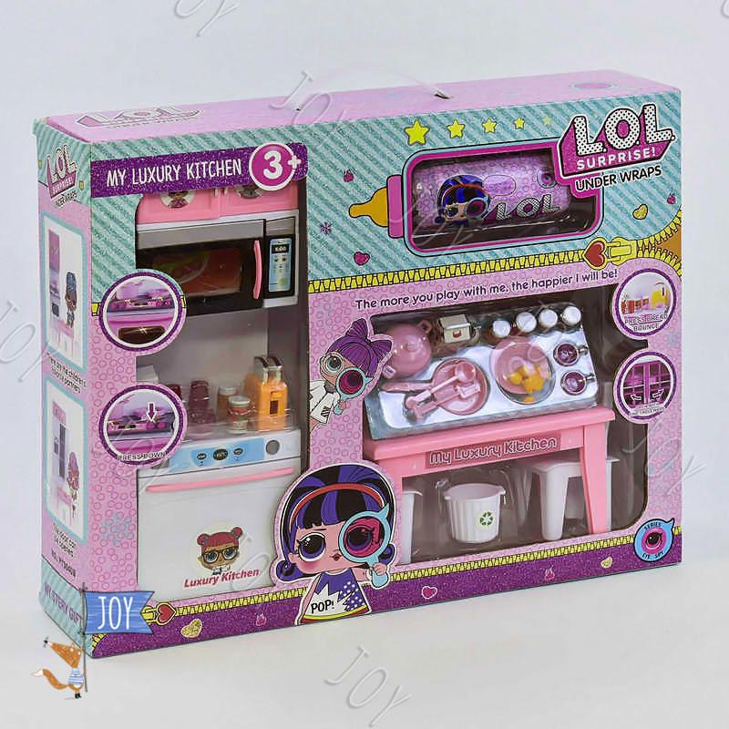 Кухня кукольная РТ 3040 А (24) кукла в капсуле, аксессуары, в коробке
