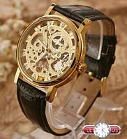 Наручные механические часы скелетоны Winner Black Fox недорого