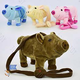"""Музыкальная игрушка на д/у M 03048 (48) """"Свинка"""" 4 вида высота 18см, музыкальная, ходит, танцует, в кульке"""