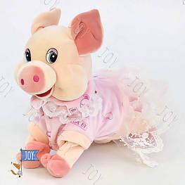Музыкальная Свинка C 30481 (36) высота 23 см, выполняет трюки, поёт песенкуна рус.яз., в кульке