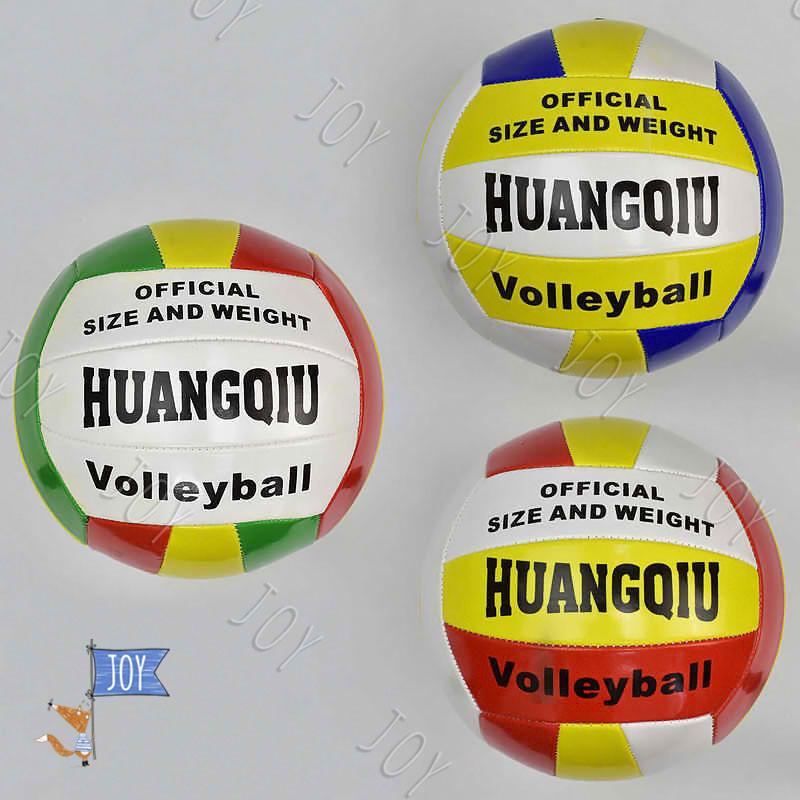 Мяч волейбольный 779-243 (60) материал PVC, 260-280 грамм, 3 цвета, резиновый балон