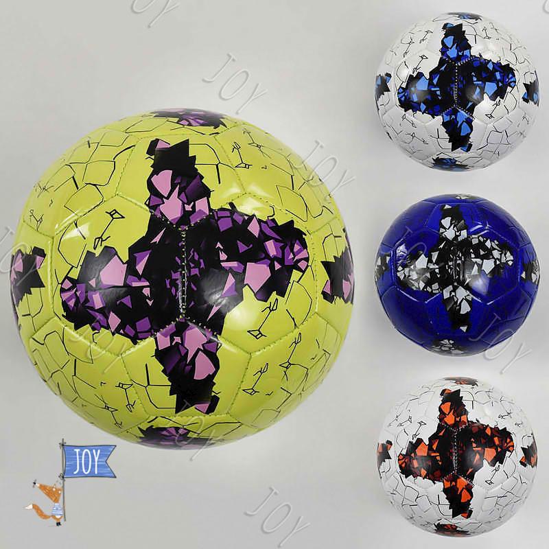 Мяч футбольный F 22063 (60) 4 цвета, 260-280 грамм, размер №5 ВЫДАЕМ МИКС
