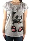 Женская футболка, 44-46-48рр, пандочка, фото 3