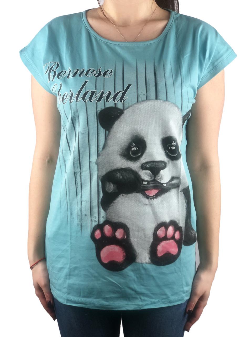 Женская футболка, 44-46-48рр, пандочка