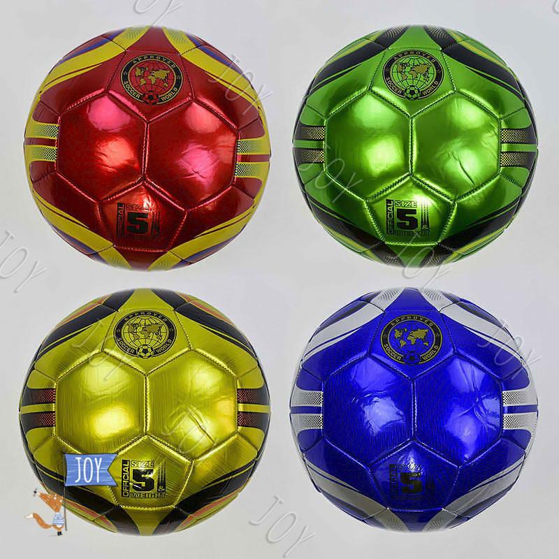 Мяч футбольный С 34191 (50) 4 цвета, 400 грамм, материал TPU, лазерный