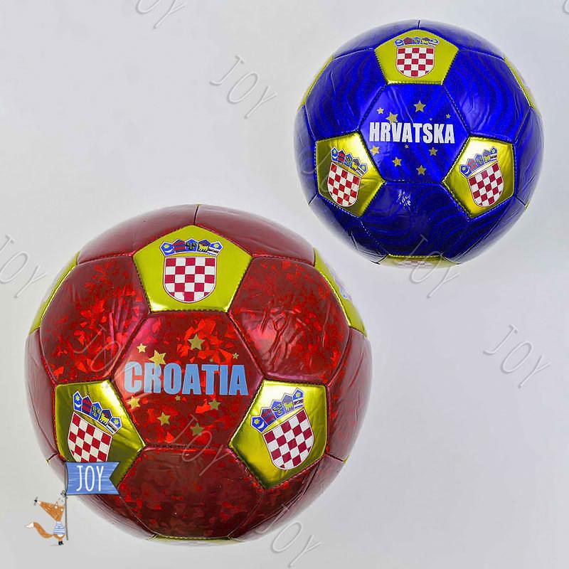 Мяч футбольный С 34399 (60) 2 вида, 330 грамм, материал - мягкий PVC